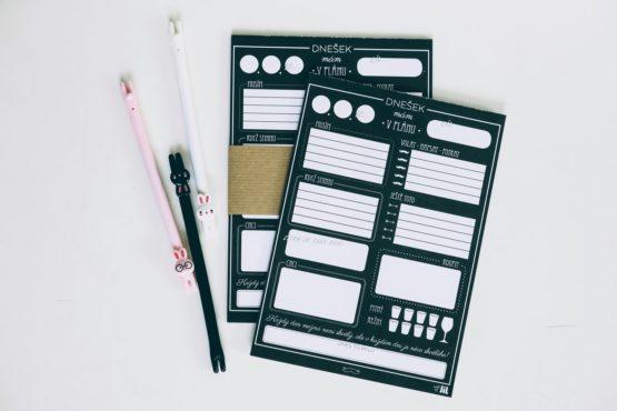 Denní plánovač A5 černobílý