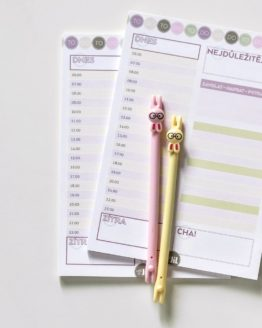 Denní plánovač A5 bonbon v pastelových barvách