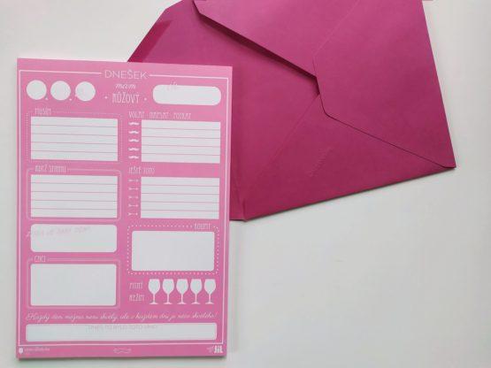 Denní plánovač A5 růžový