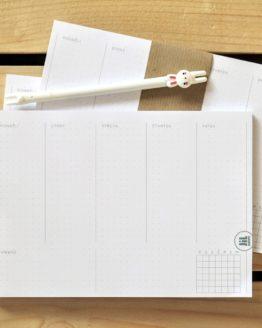 Týdenní plánovač A5 s tečkami bullet journal